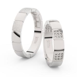 Snubní prsteny z bílého zlata s brilianty