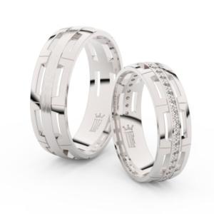 Snubní prsteny z bílého zlata se zirkony