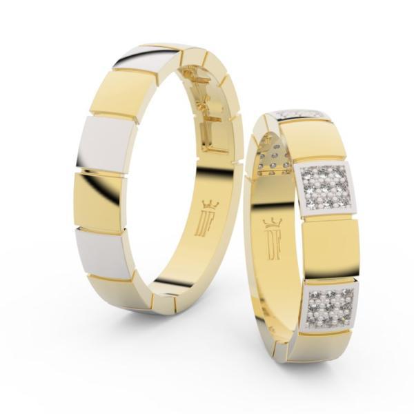 Snubní prsteny ze žlutého zlata se zirkony