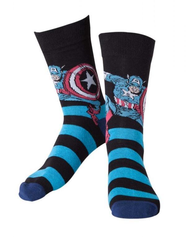 Bioworld Merchandising Marvel Ponožky – Captain America Velikost: 43/46