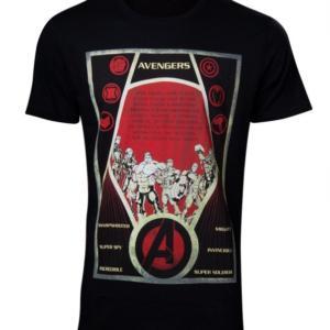 DIFUZED Avengers Tričko Poster Velikost: XXL