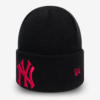 Čepice New Era MLB Wmns league essential cuff knit NEYYANCO Černá