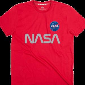 Alpha Industries Tričko NASA Reflective T speed red S