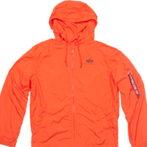 Alpha Industries Bunda Windbreaker w.o. Back Print flame orange 3XL