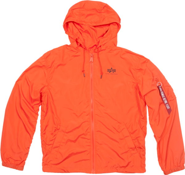 Alpha Industries Bunda Windbreaker w.o. Back Print flame orange 3XL