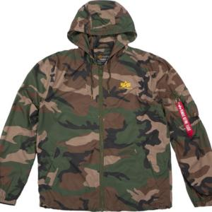 Alpha Industries Bunda Windbreaker woodland camo 65 XXL