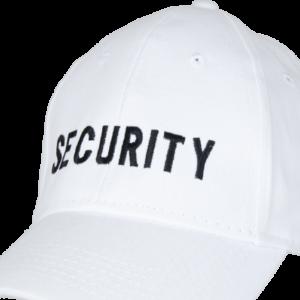 Čepice Baseball Cap SECURITY bílá