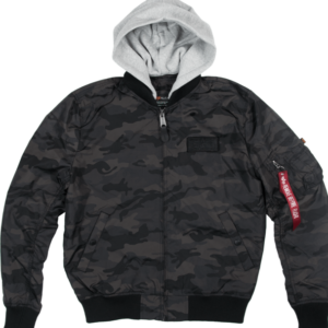 Alpha Industries Bunda MA-1 TT Hood black camo XXL