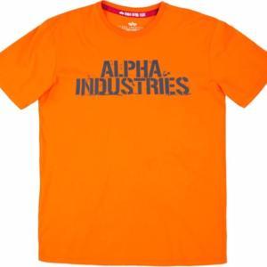 Alpha Industries Tričko Blurred T flame orange L