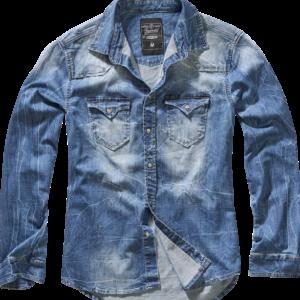 Brandit Košile Riley Denim Shirt denim blue 5XL
