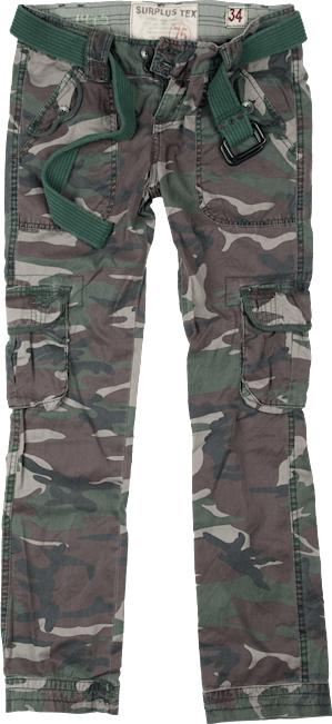 Surplus Kalhoty Ladies Premium Trousers Slimmy woodland oprané 42
