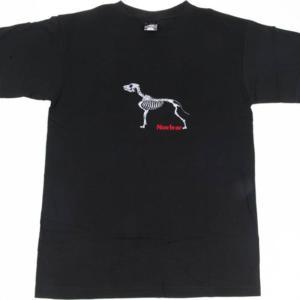 Tričko s kostrou psa [vyšívané] černé 3XL