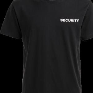 Brandit Tričko SECURITY s nápisem černá | bílá 3XL