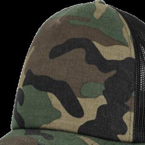 Brandit Čepice Baseball Cap Camo Trucker woodland   černá