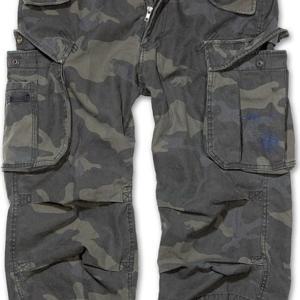 Brandit Kalhoty Industry Vintage 3/4 darkcamo L
