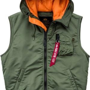Alpha Industries Vesta MA-1 Vest Hooded šalvějová M