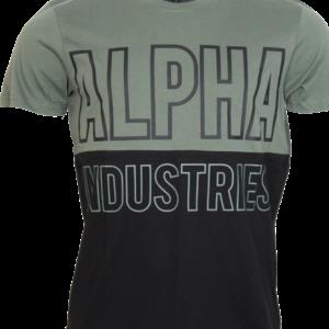 Alpha Industries Tričko Block T zelená vintage XXL