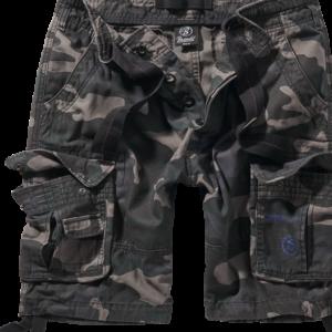 Brandit Kalhoty krátké Pure Vintage Shorts darkcamo 6XL