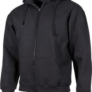 Mikina s kapucí (se zapínáním) černá L