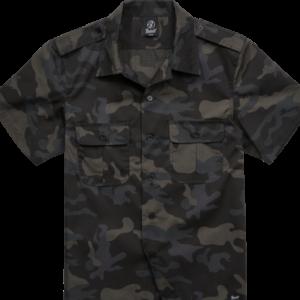 Brandit Košile US Shirt Ripstop 1/2 Arm darkcamo 5XL