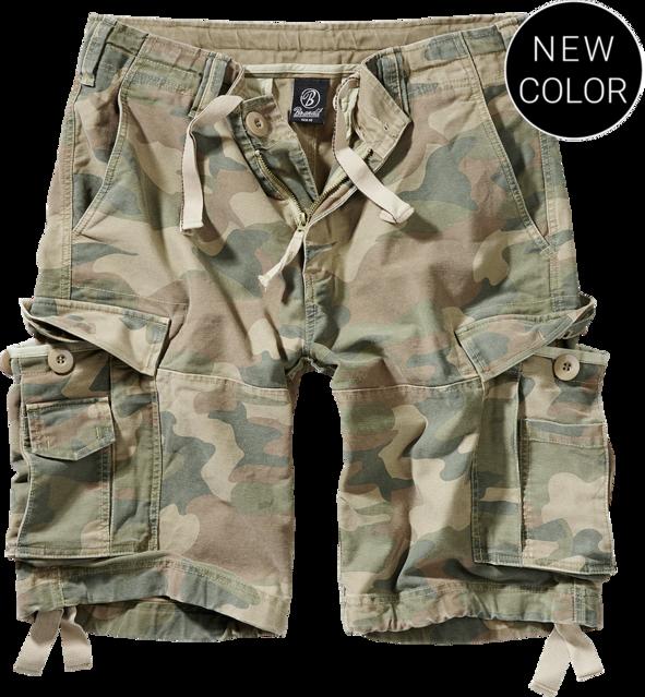 Brandit Kalhoty krátké Vintage Classic Shorts woodland světlý XXL