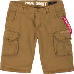Alpha Industries Kalhoty krátké Crew Short khaki 34