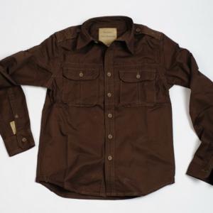 Surplus Košile Plain Summer Shirt dlouhý rukáv hnědá S