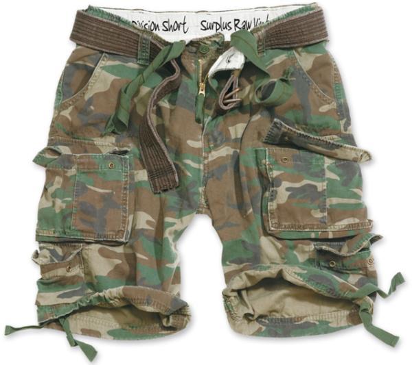 Surplus Kalhoty krátké Division Shorts woodland XL