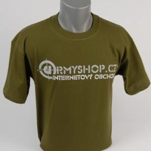 Tričko ARMYSHOP.CZ olivová XL