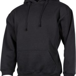 Mikina s kapucí černá 4XL