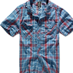 Brandit Košile Roadstar Shirt 1/2 červená | modrá 4XL