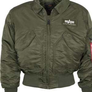 Alpha Industries Bunda CWU 45 olivová tm. 3XL