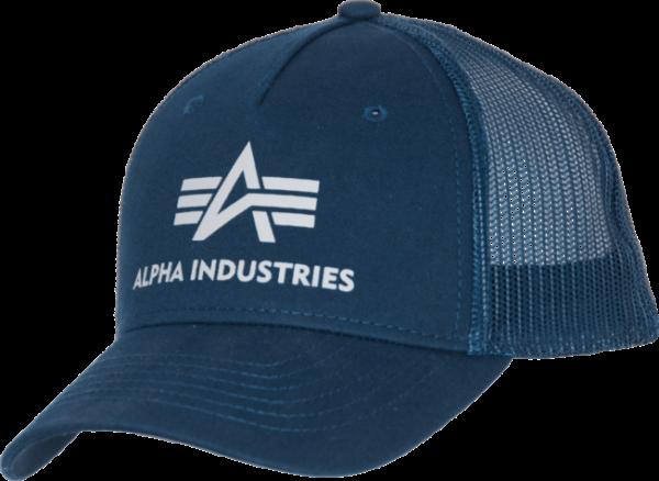 Alpha Industries Čepice Baseball Cap Basic Trucker rep. modrá