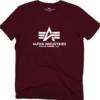 Alpha Industries Tričko Basic T-Shirt deep maroon 4XL
