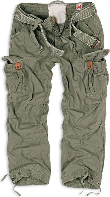 Surplus Kalhoty Premium Vintage olivové XL