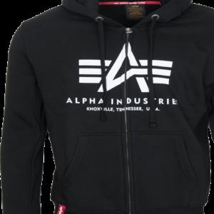 Alpha Industries Mikina Basic Zip Hoody černá L