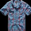 Brandit Košile Roadstar Shirt 1/2 červená | modrá S