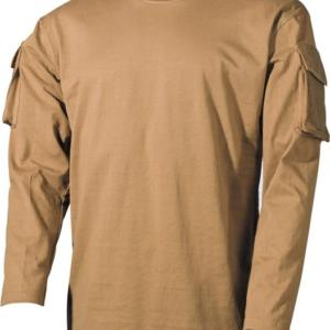 Tričko US T-Shirt s kapsami na rukávech 1/1 okrové 3XL