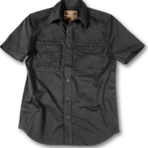 Surplus Košile Plain Summer Shirt krátký rukáv černá S