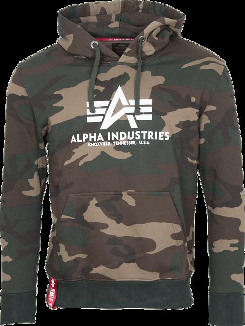 Alpha Industries Mikina Basic Hoody woodland camo 65 3XL