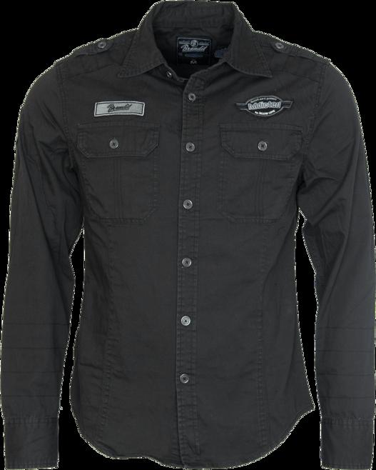 Brandit Košile Luis Vintageshirt černá M