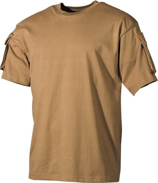 Tričko US T-Shirt s kapsami na rukávech 1/2 okrové 3XL