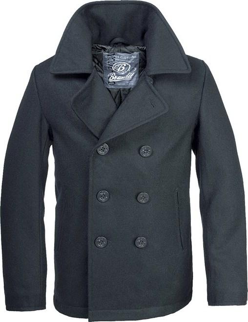 Brandit Kabát Pea Coat černý 7XL
