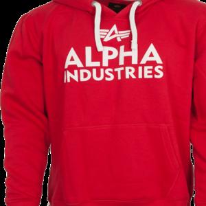 Alpha Industries Mikina Foam Print Hoody červená | bílá XXL