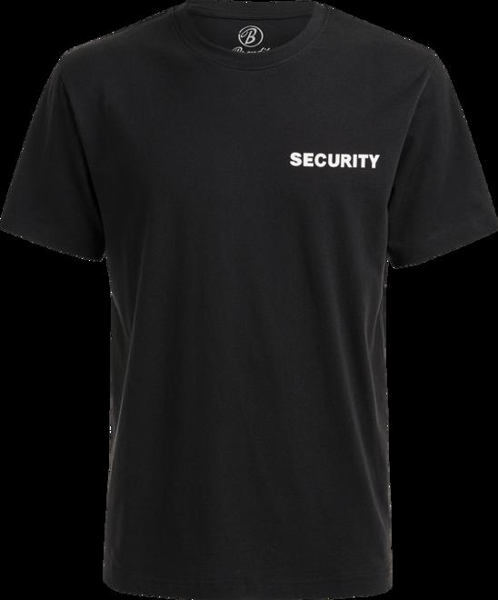 Brandit Tričko SECURITY s nápisem černá   bílá 7XL