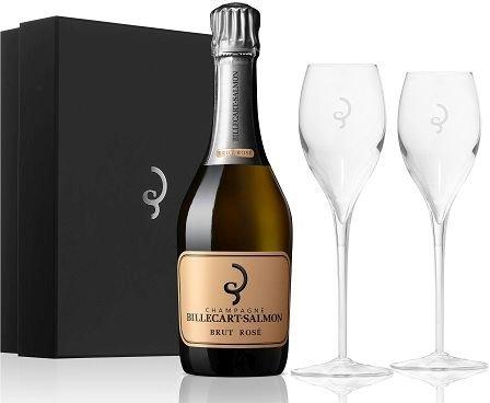 Billecart-Salmon Brut Rosé – Dárková Kazeta se 2 skleničkami 0